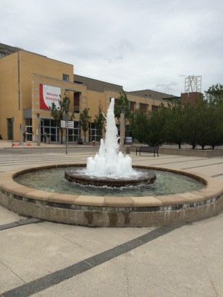 the photo of this fountain does not serve any other useful purpose other than to tell you we have a fountain at the bus loop :D